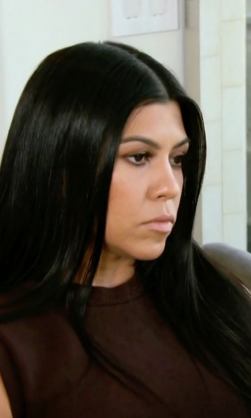 Kourtney Kardashian with Yeezy Cropped Tank Top in Keeping Up With The Kardashians