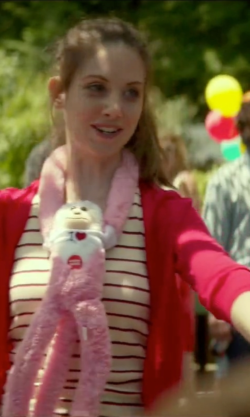 Alison Brie with Toys R Us Hanging Monkey in Sleeping with Other People