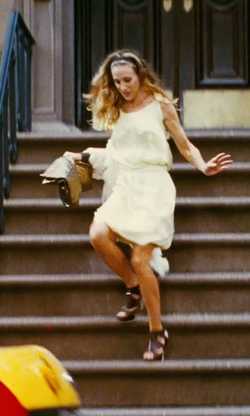 Sarah Jessica Parker with Nina Ricci White Short Dress in Sex and the City