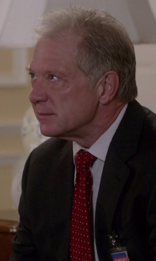 Jeff Perry with Valentino Square-Print Silk Tie in Scandal