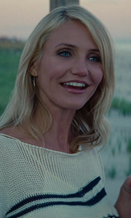 Cameron Diaz with Jean Paul Gaultier Open Knit Sweater in The Other Woman
