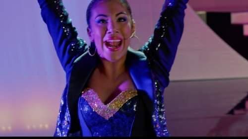 Chrissie Fit with Custom Navy Corset in Pitch Perfect 2