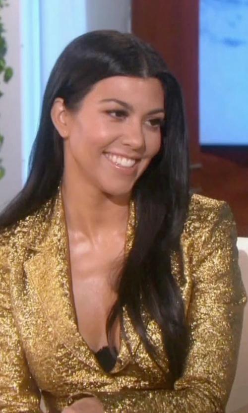 Kourtney Kardashian with Lanvin Metallic Blazer in Keeping Up With The Kardashians