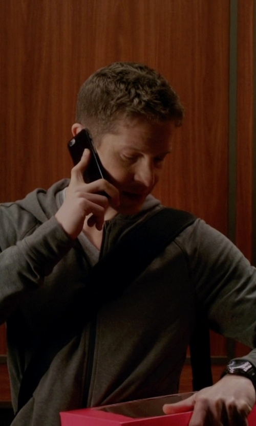 Matt Czuchry with J. Crew Full-Zip Hoodie Jacket in The Good Wife