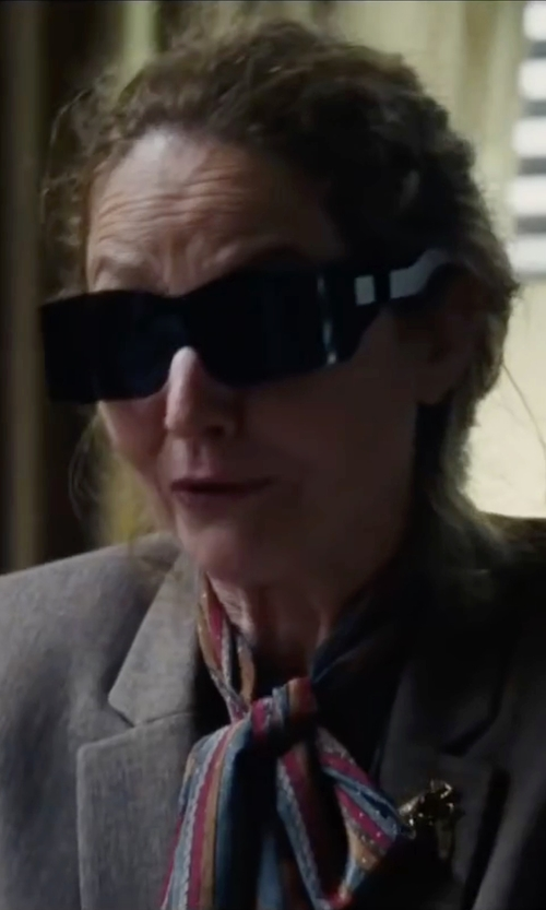 Melissa Leo with Zadig & Voltaire Delta Stars Scarf in The Big Short