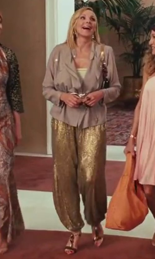 Kim Cattrall with Alberto Guardiani Lipstick Heel Sandals in Sex and the City 2
