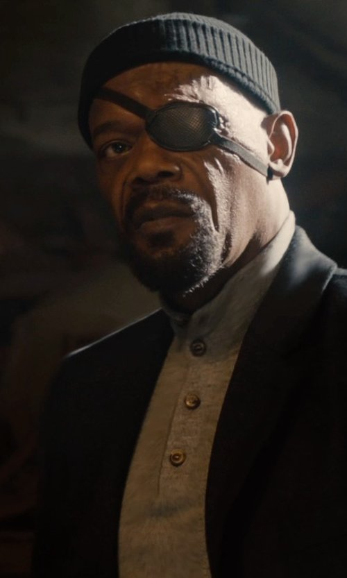 Samuel L. Jackson with Levi's Men's Riffey Mock Neck Sweater in Avengers: Age of Ultron
