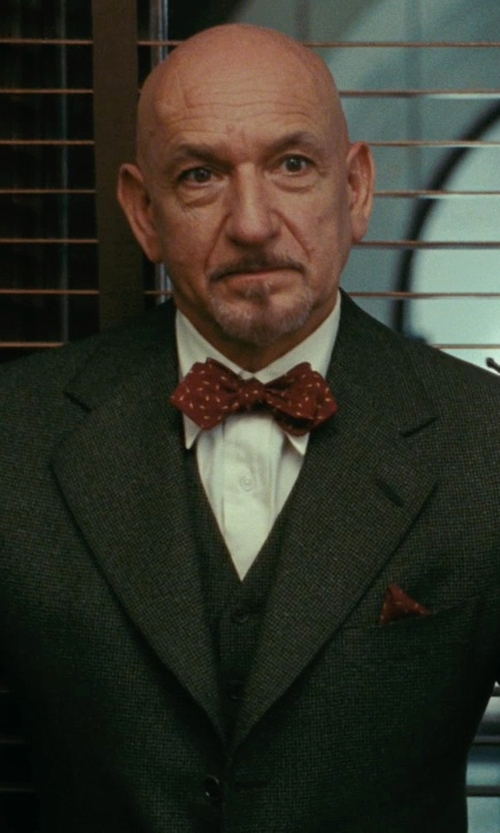 Ben Kingsley with John W. Nordstrom Pocket Square in Shutter Island