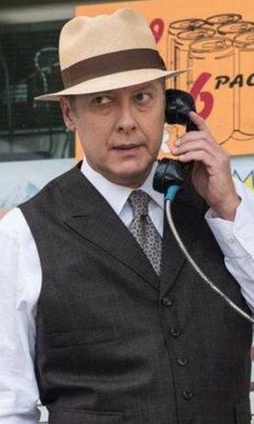 James Spader with TS(S) Checked Design Vest in The Blacklist
