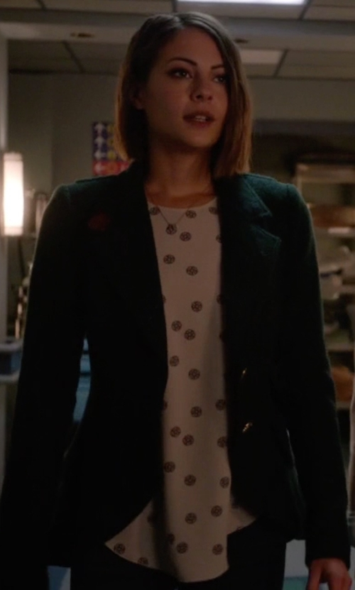 Willa Holland with Wilfred Sèvres Blouse in Arrow