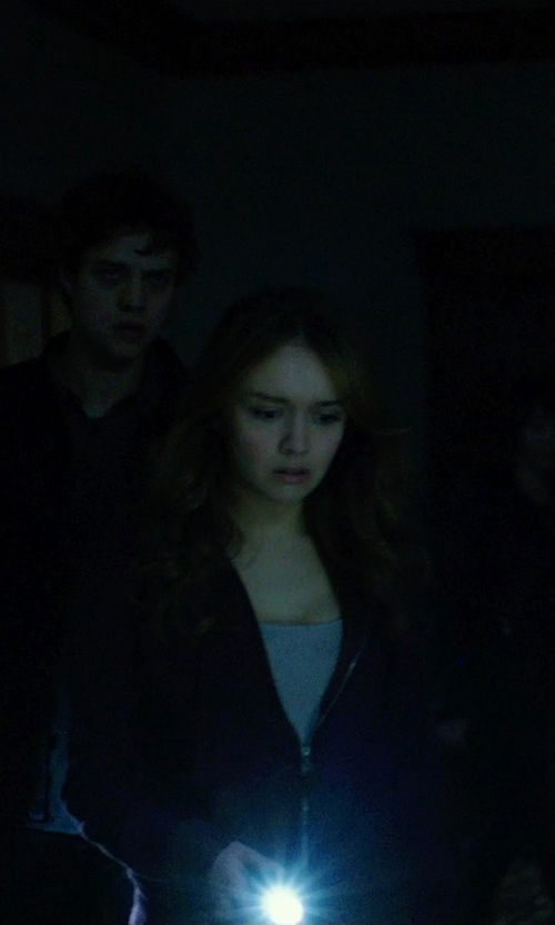Olivia Cooke with Hurley Solid Slim Fleece Zip Hoodie in Ouija