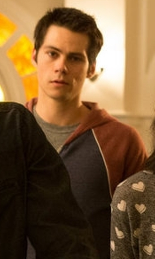 Dylan O'Brien with Alternative Apparel Zip Up Raglan Jacket in Teen Wolf
