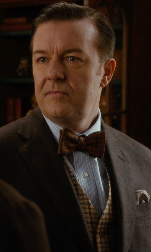 Ricky Gervais with Eton of Sweden Solid Silk Bow Tie in Night at the Museum: Secret of the Tomb