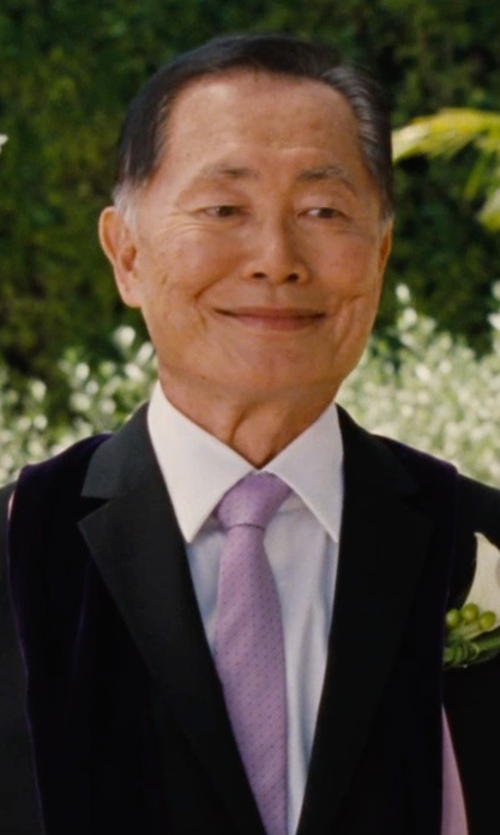 George Takei with The Tie Bar Woven Silk Tie in Entourage
