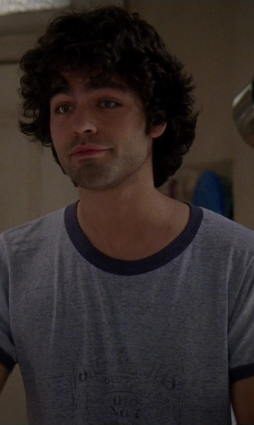 Adrian Grenier with John Varvatos Short Sleeve Reverse Tee in The Devil Wears Prada
