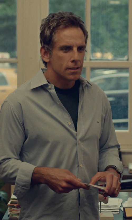 Ben Stiller with Joe Fresh Men's Crew Neck Slub T Shirt in While We're Young