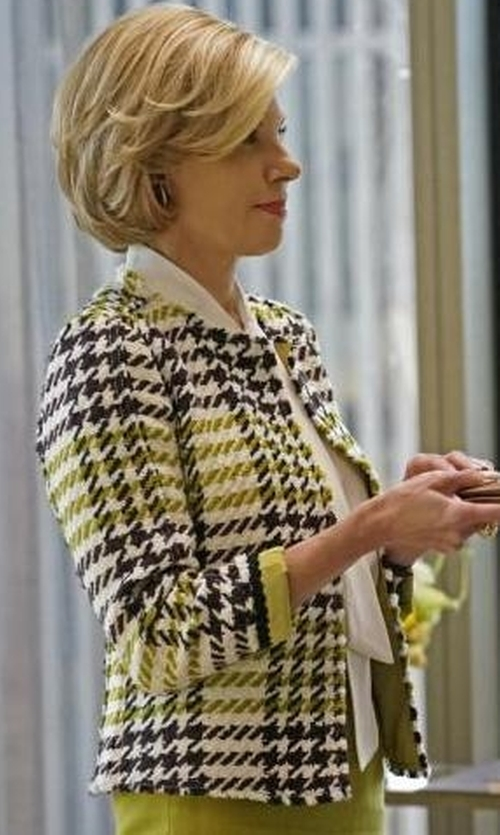 Christine Baranski with Lafayette 148 New York Windsor Plaid Dani Jacket in The Good Fight