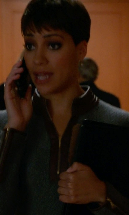Cush Jumbo with Tommy Bahama New Pickford Half-Zip Sweater Dress in The Good Wife