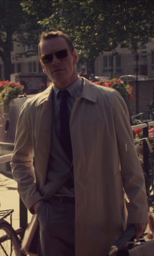 Michael Fassbender with Allegri Layered Microfiber Jacket in The Counselor