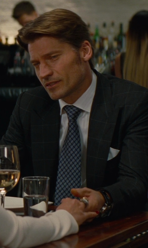 Nikolaj Coster-Waldau with Brioni Tonal Shadow-striped Dress Shirt in The Other Woman
