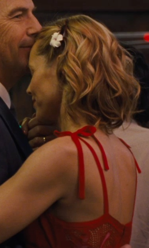 Maria Bello with Audrey Bride Spaghetti Straps Evening Dress in McFarland, USA