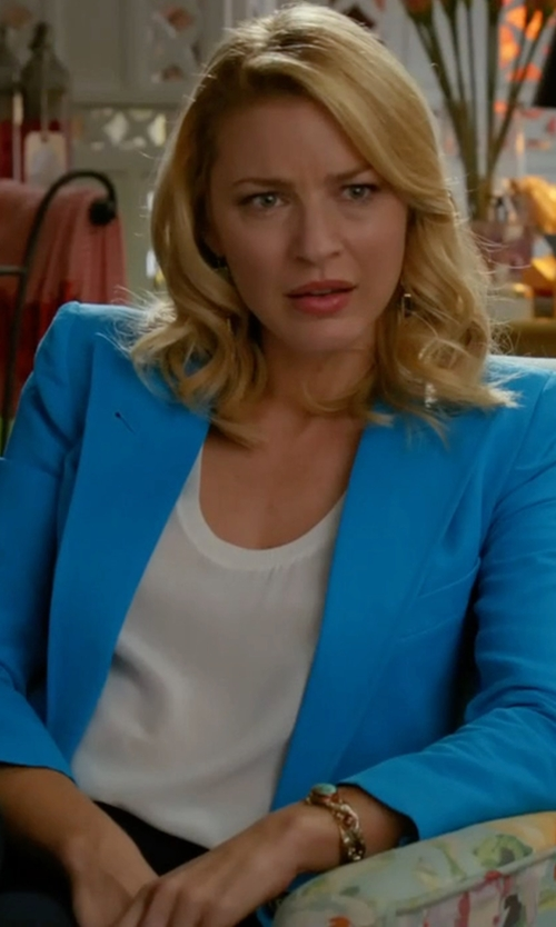 Tabrett Bethell with Smythe Sharp Shoulder Blazer in Mistresses