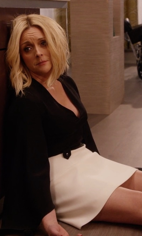 Jane Krakowski with Vivian Chan Ingrid Skirt in Unbreakable Kimmy Schmidt