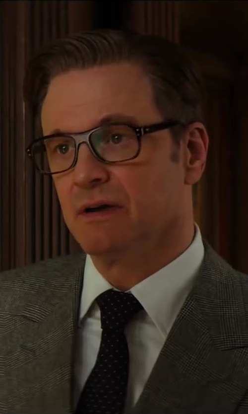 Colin Firth with Drake's Patterned Woven-Silk Tie in Kingsman: The Secret Service