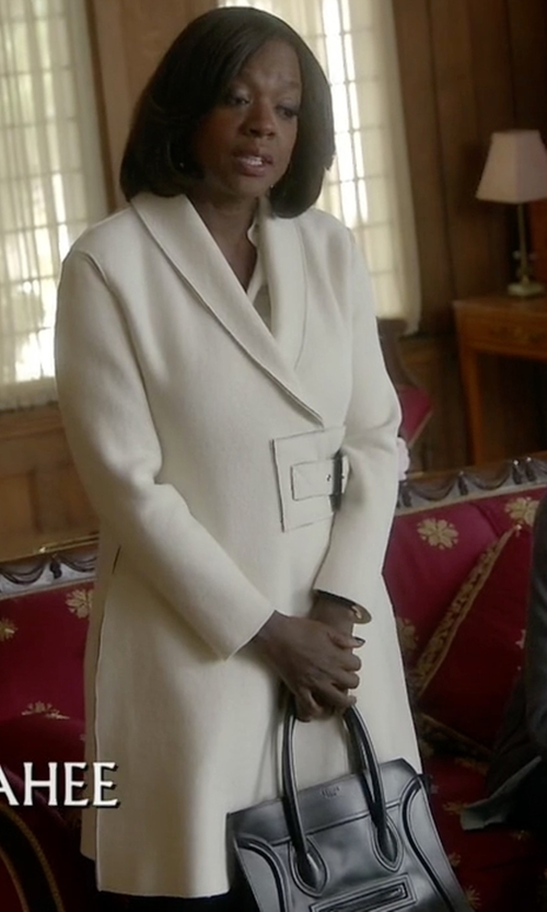 Viola Davis with Enna Longline Wrap Coat in How To Get Away With Murder