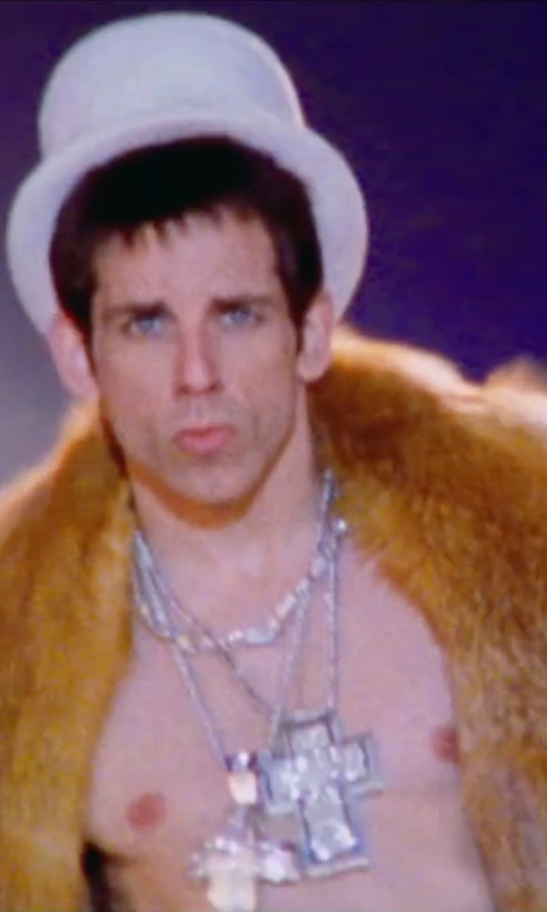 Ben Stiller with My Daily Styles Large Hip Hop Cross Necklace in Zoolander 2