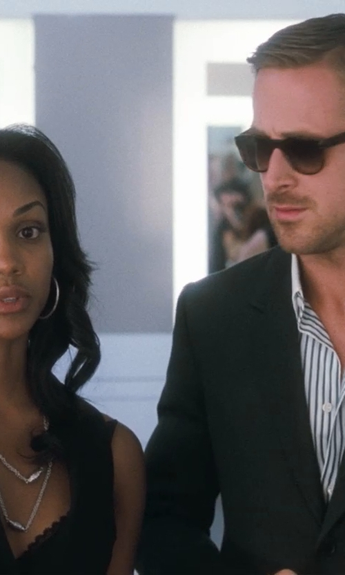 Mekia Cox with Banana Republic Factory Zip-Front Top in Crazy, Stupid, Love.