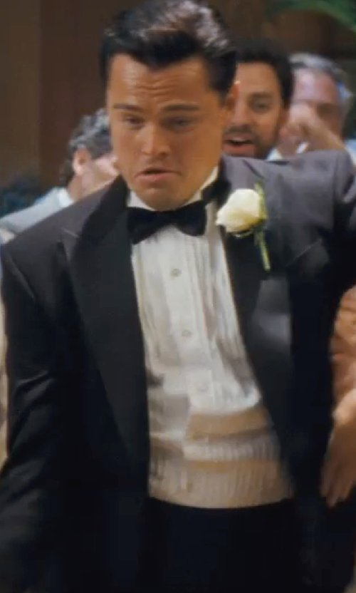 Leonardo DiCaprio with Brioni Cummerbund & Bow Tie Set in The Wolf of Wall Street
