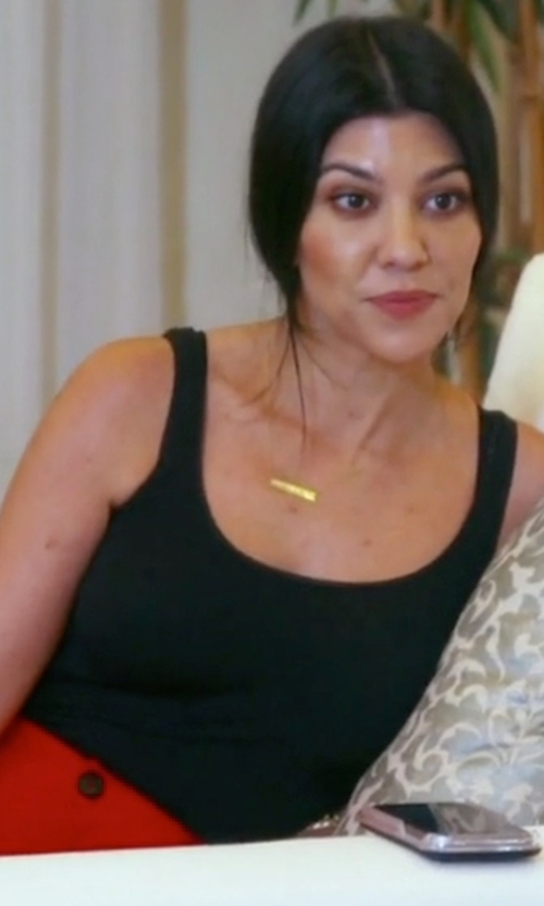 Kourtney Kardashian with Wolford  Jamaika String Bodysuit in Keeping Up With The Kardashians