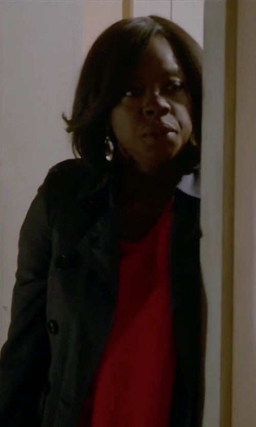 Viola Davis with Aspesi Ines Trench Coat in How To Get Away With Murder