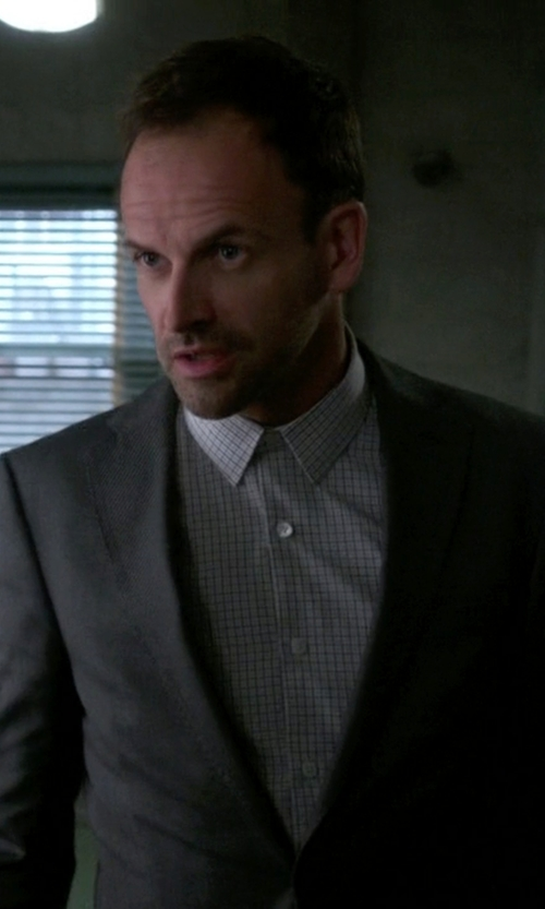 Jonny Lee Miller with Calvin Klein Slim Fit Wool Blazer in Elementary