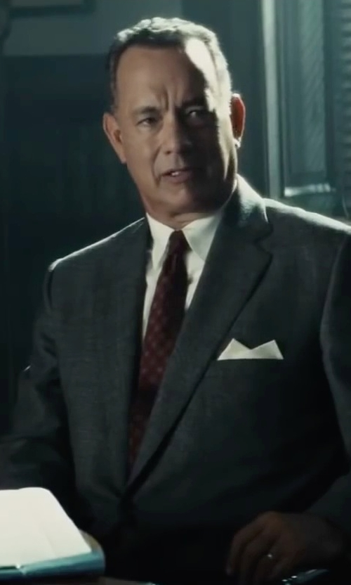 Tom Hanks with Todd Snyder White Label Trim Fit Solid Dress Shirt in Bridge of Spies