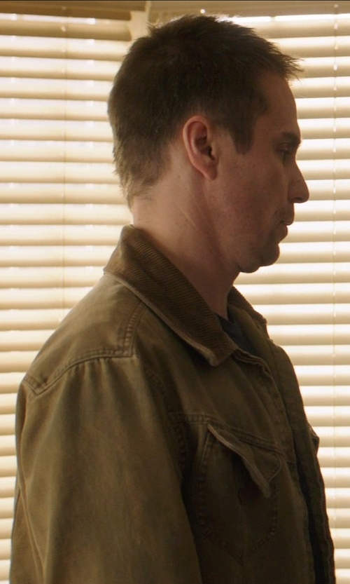 Sam Rockwell with Lucky Brand Military Jacket in Poltergeist