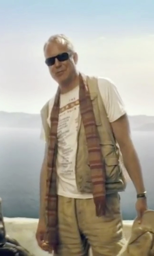 Stellan Skarsgård with Guess Rectangle Polarized Sunglasses in Mamma Mia!