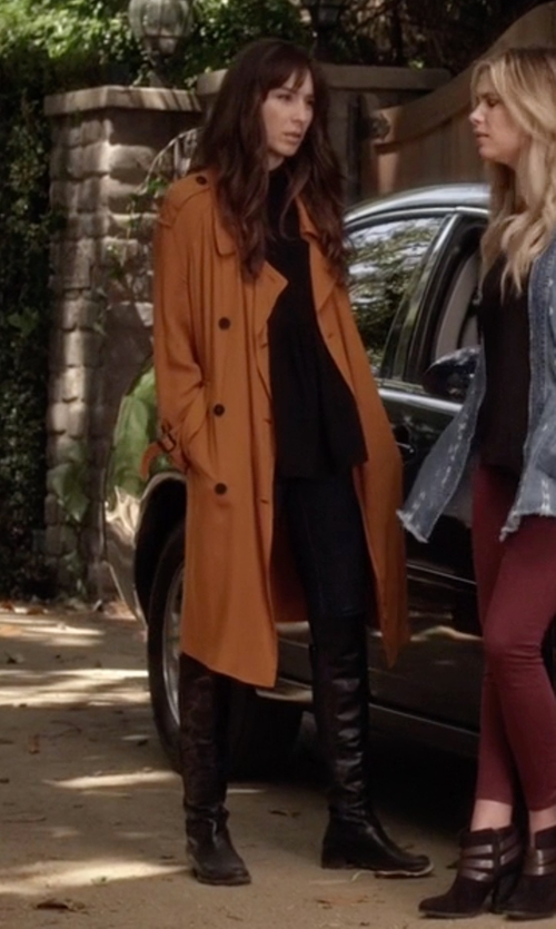 Troian Bellisario with Stuart Weitzman 5050 Stretch Leather Boots in Pretty Little Liars