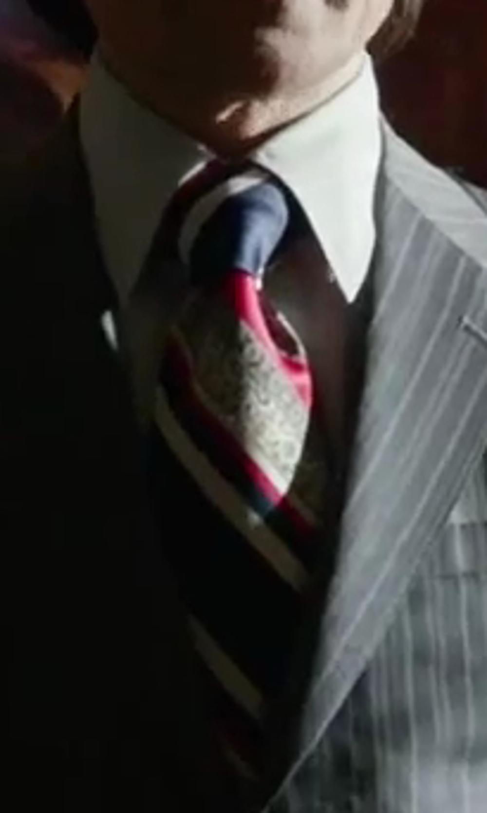 Peter Dinklage with J.CREW FISHER STRIPED SILK TIE in X-Men: Days of Future Past