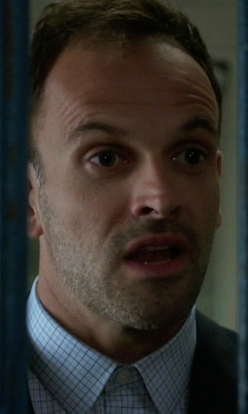 Jonny Lee Miller with Cego Custom Made Tattersal Shirt in Elementary