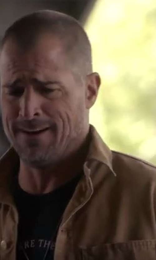 George Eads with Michael Stars Shirt Jacket in MacGyver