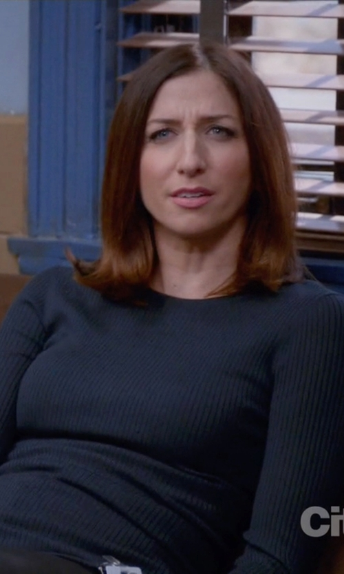 Chelsea Peretti with The Row Crew Neck Sweater in Brooklyn Nine-Nine
