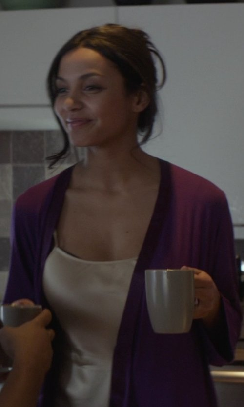 Jessica Lucas  with Vietri Lastra Grey Mug in That Awkward Moment