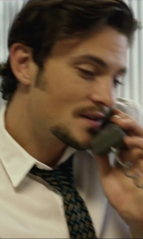 Shiloh Fernandez with Saks Fifth Avenue Collection Diamond Print Silk Tie in We Are Your Friends