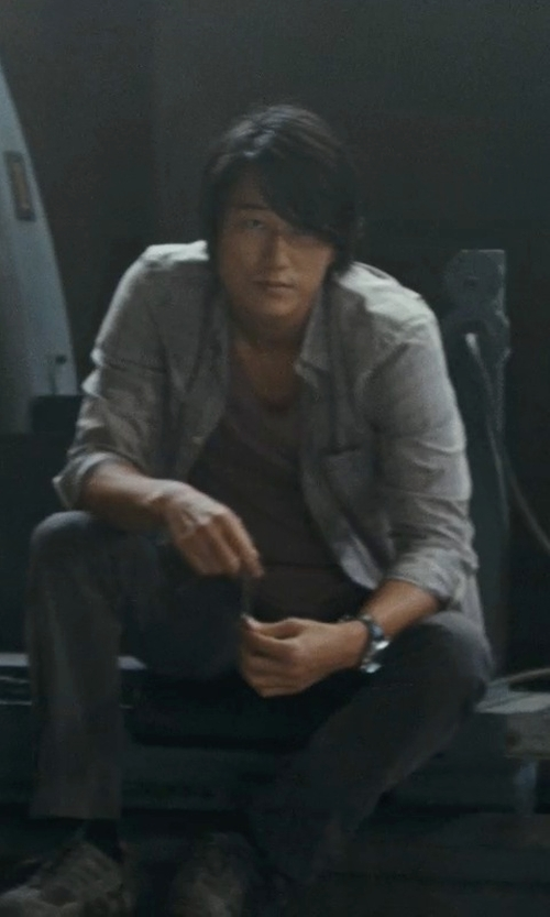 Sung Kang with Stone Rose Men's Gingham Shirt in Fast Five