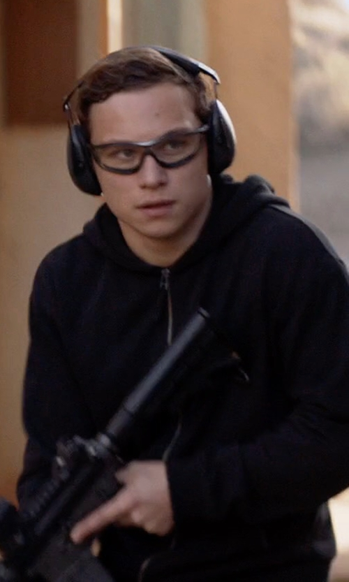 Finn Cole with Ralph Lauren Double-Knit Full-Zip Hoodie in Animal Kingdom