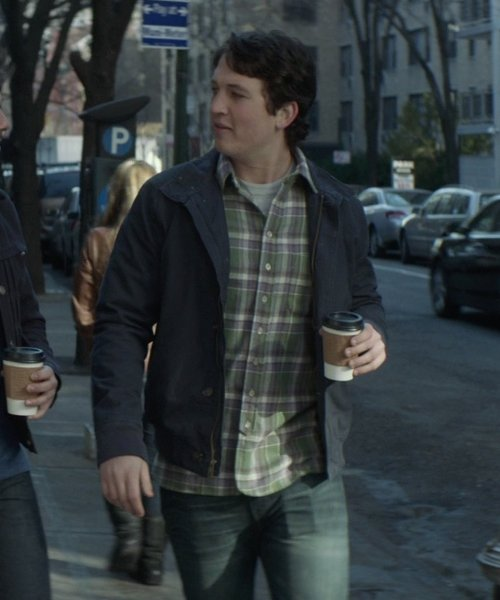 Miles Teller with 7 For All Mankind Standard-Cut Straight-Leg Jeans in That Awkward Moment