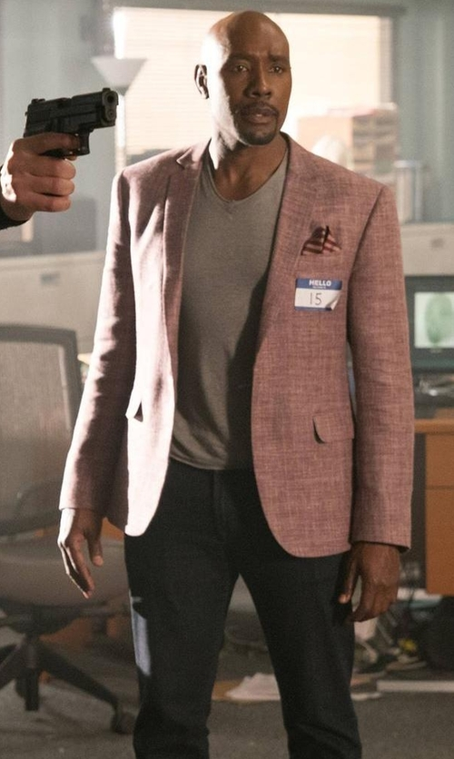 Morris Chestnut with 7 For All Mankind Luxe Performance: Paxtyn Prowl Jeans in Rosewood