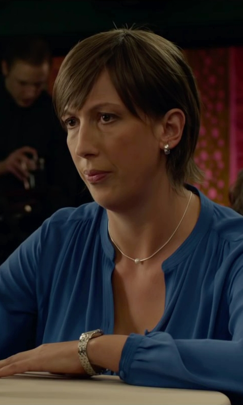 Miranda Hart with Relic Women's Payton Multi Silvertone Watch in Spy